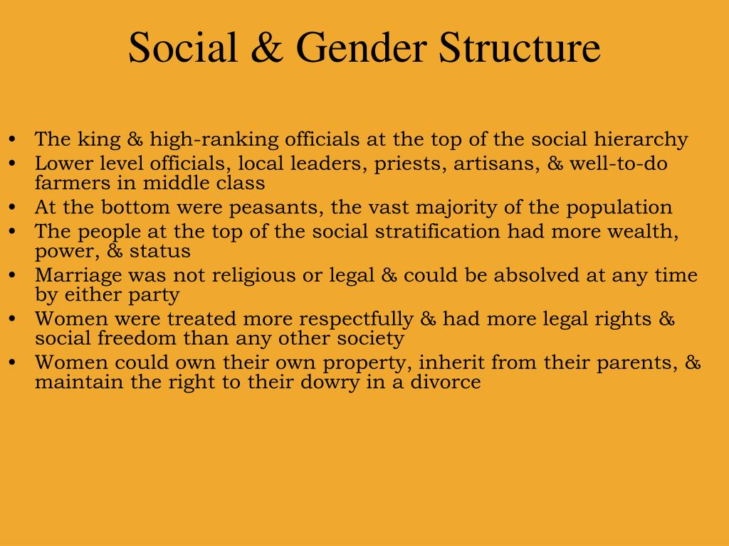 Social & Gender Structure