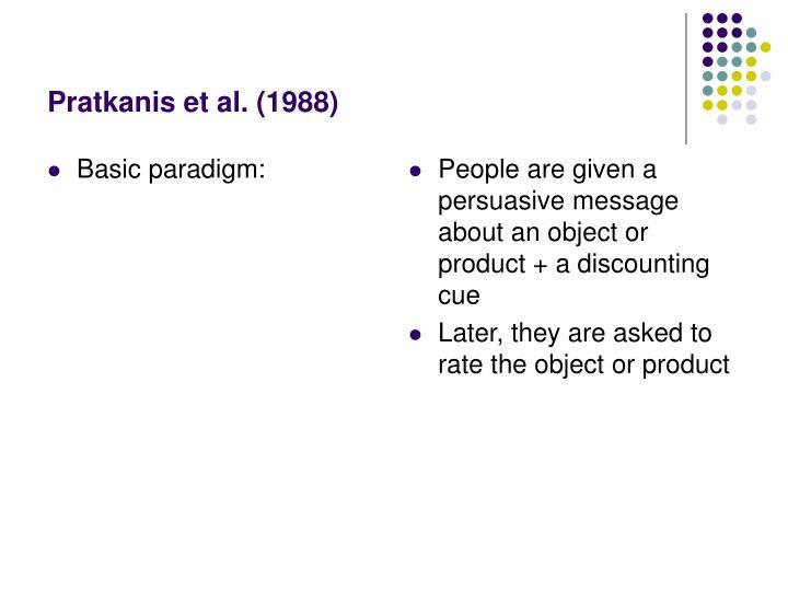 Basic paradigm: