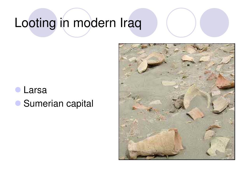 Looting in modern Iraq