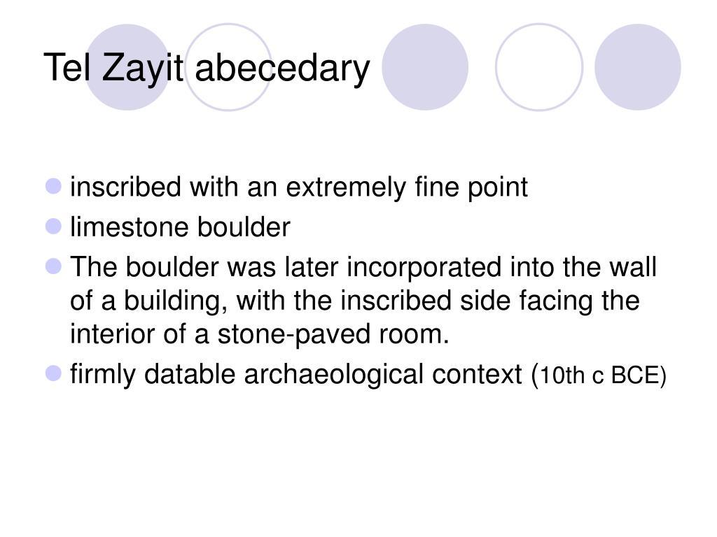Tel Zayit abecedary