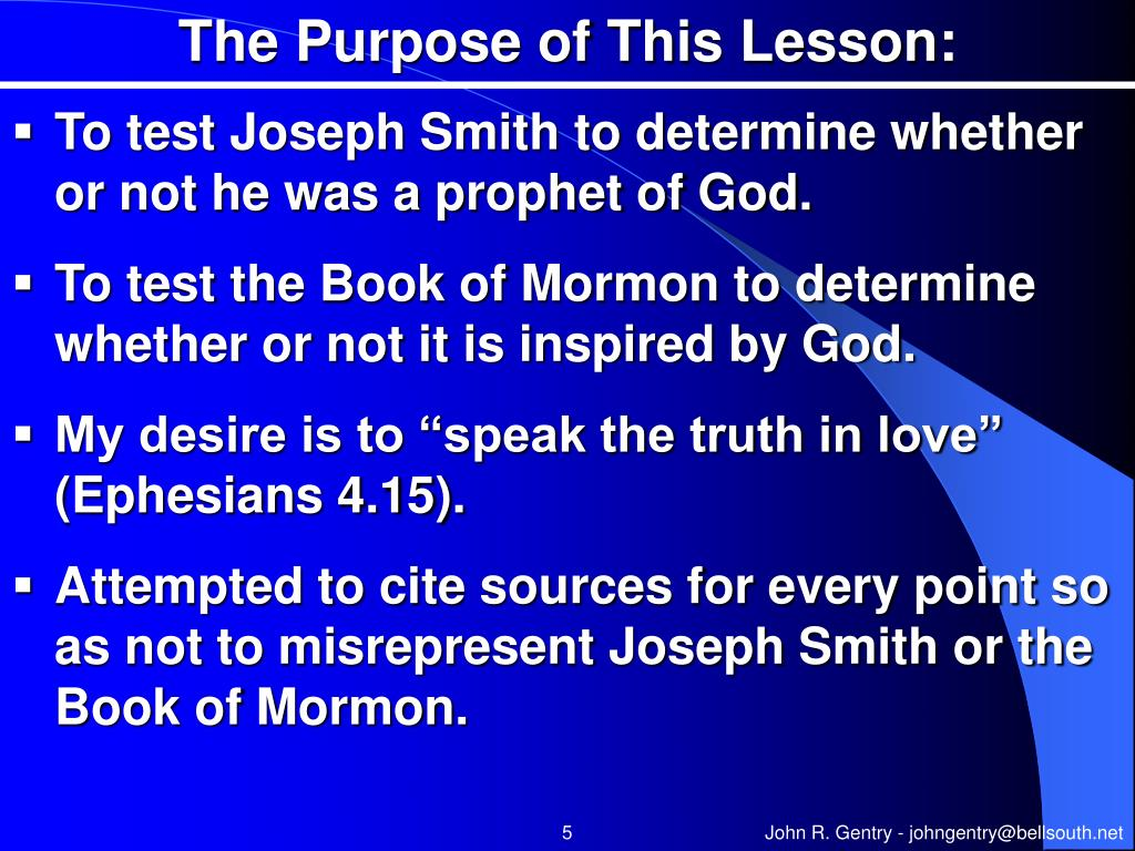 The Purpose of This Lesson: