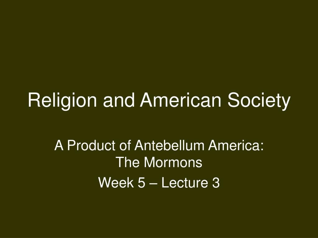 religion and american society l.