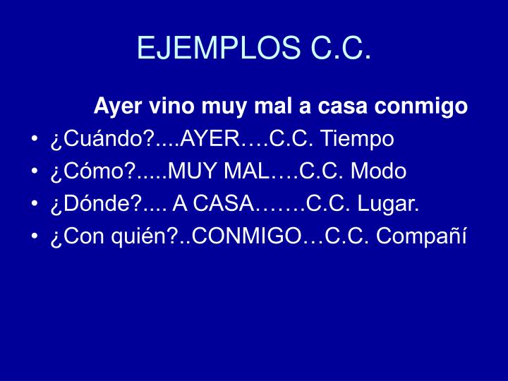 EJEMPLOS C.C.