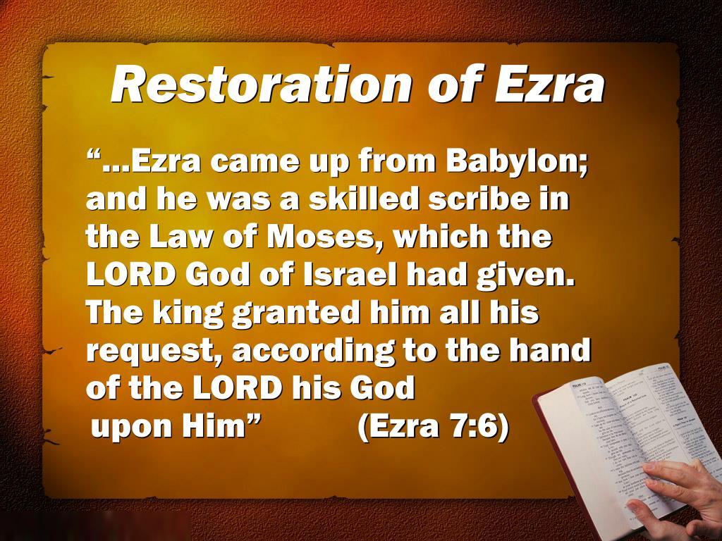 Restoration of Ezra