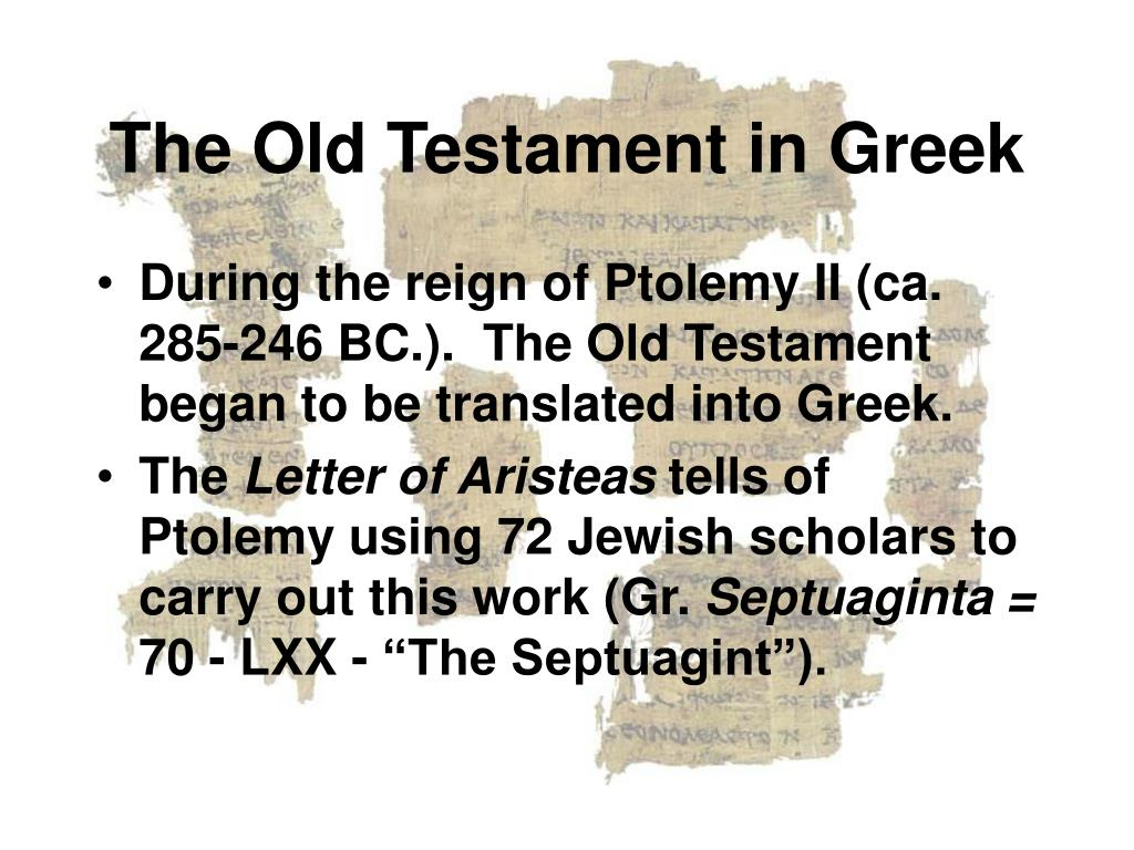 The Old Testament in Greek
