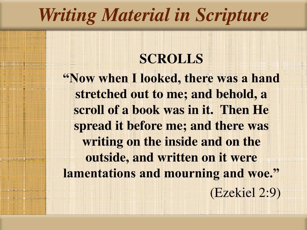 Writing Material in Scripture