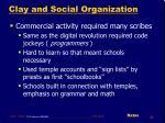 clay and social organization