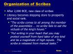organization of scribes30