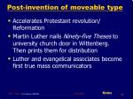 post invention of moveable type44