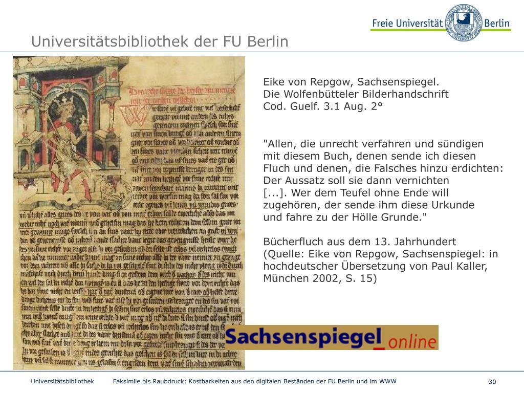 Fu Berlin Anschrift