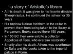 a story of aristotle s library