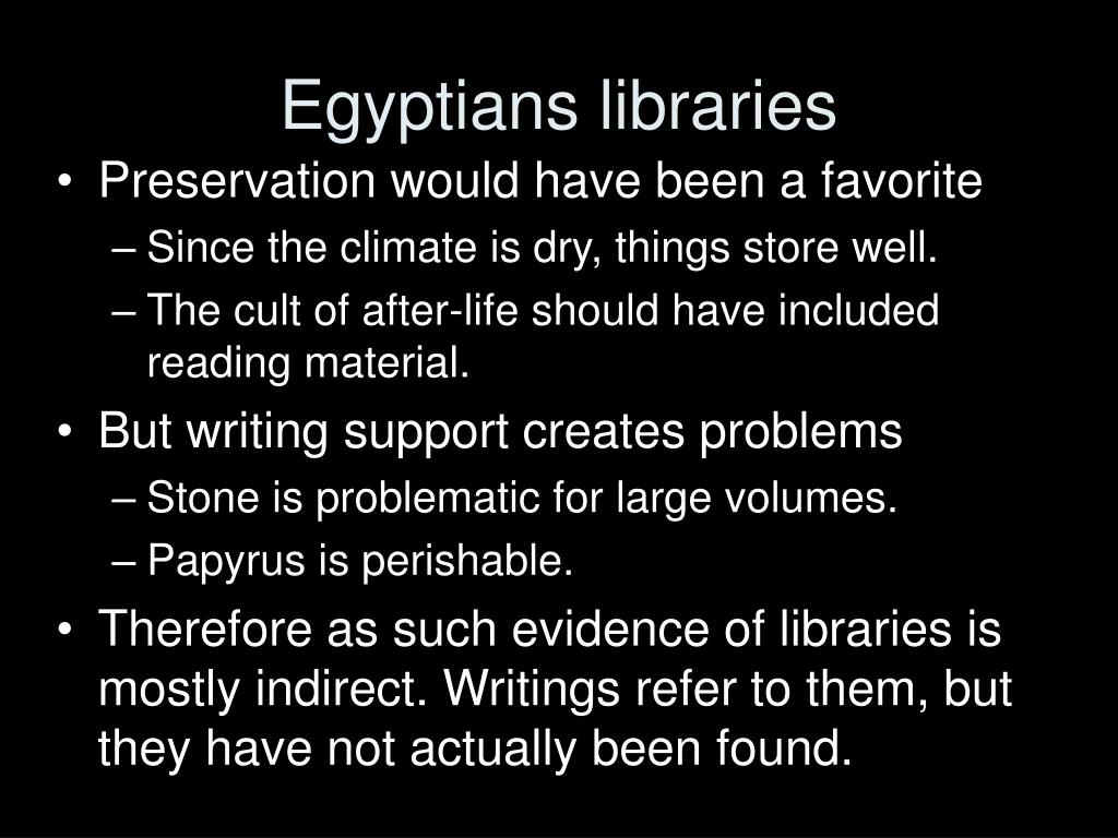 Egyptians libraries