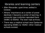 libraries and learning centers