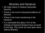 libraries and literature