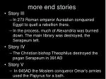 more end stories