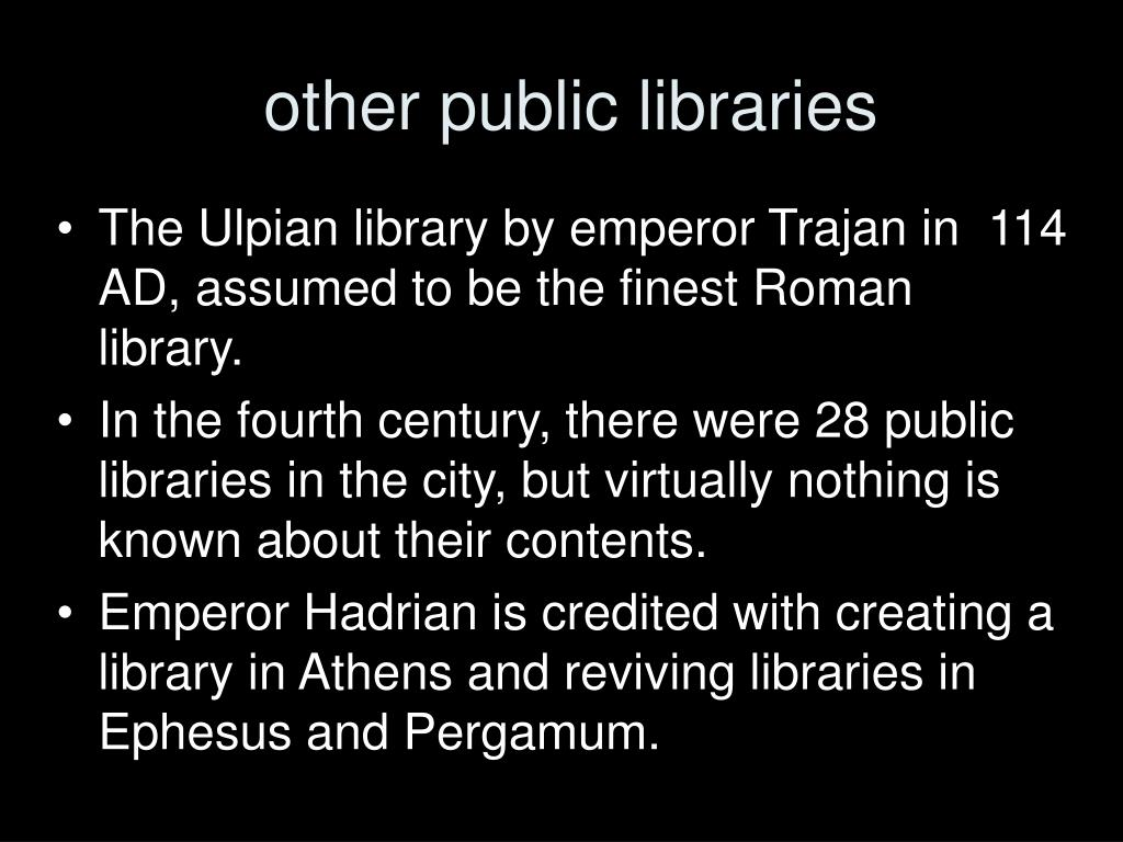 other public libraries