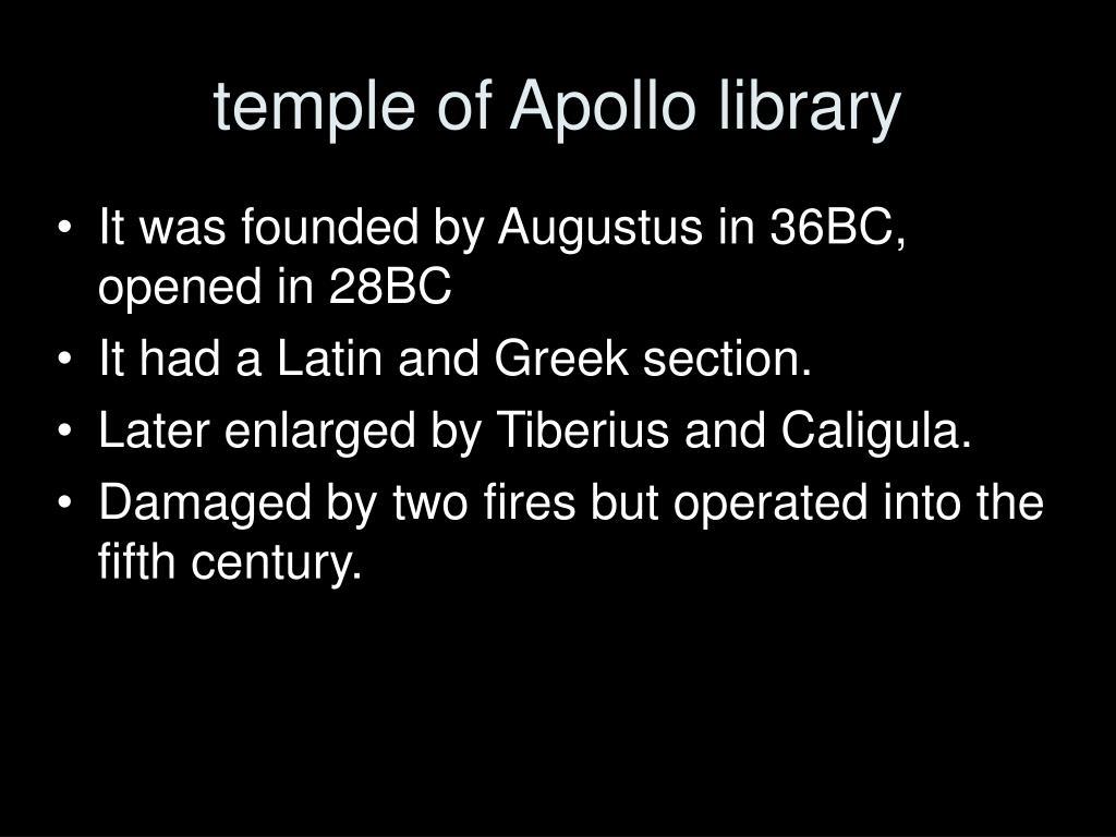 temple of Apollo library
