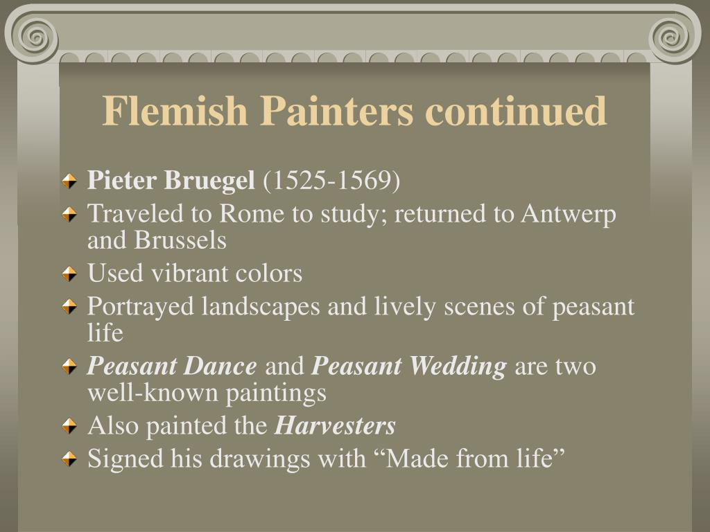 Flemish Painters continued