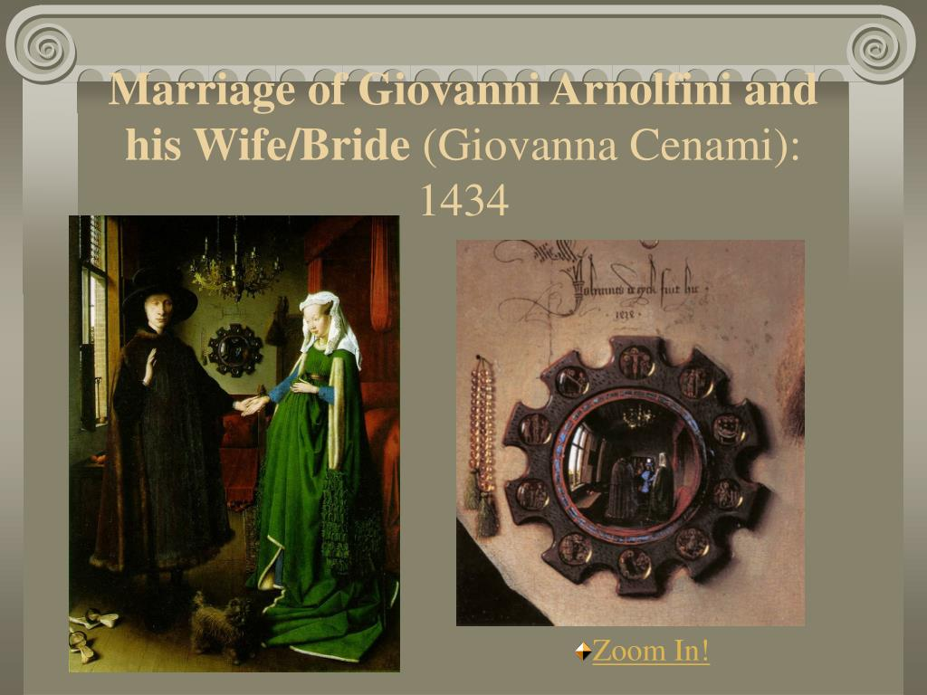 Marriage of Giovanni Arnolfini and his Wife/Bride
