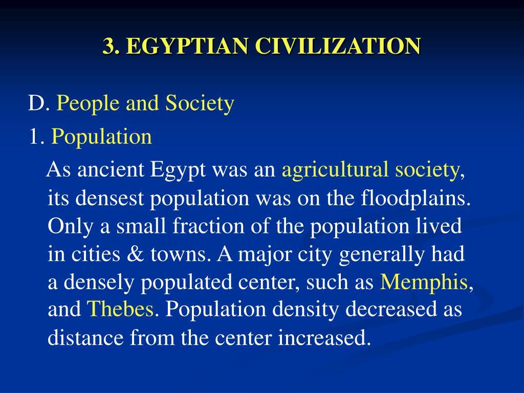 3. EGYPTIAN CIVILIZATION