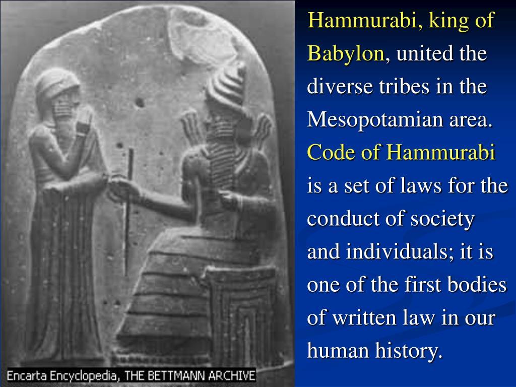 Hammurabi, king of Babylon
