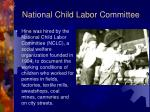 national child labor committee