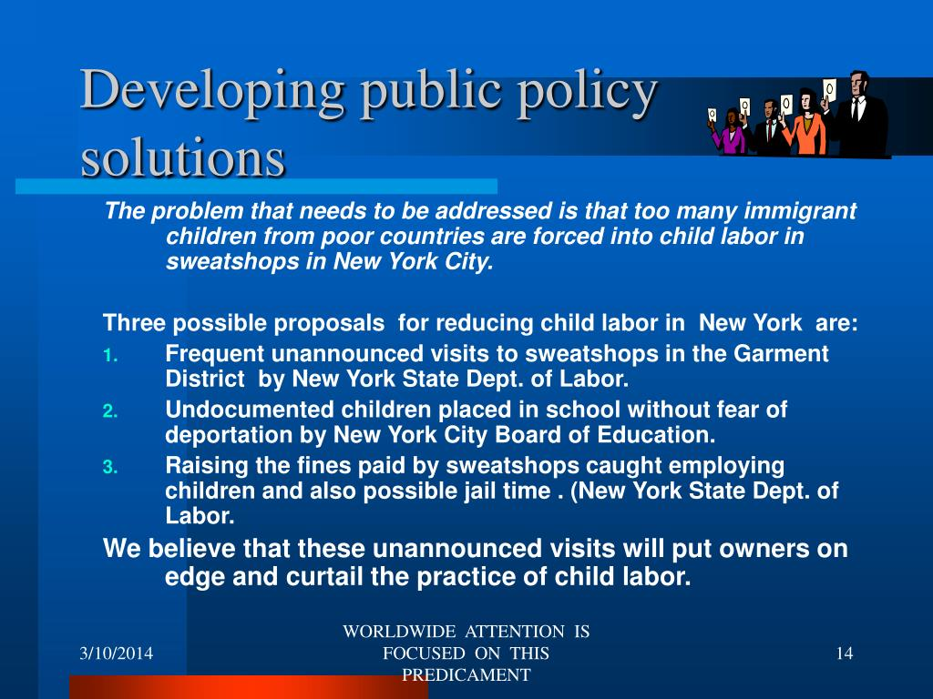 Developing public policy solutions