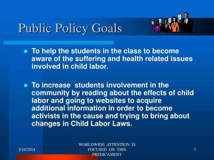 Public policy goals