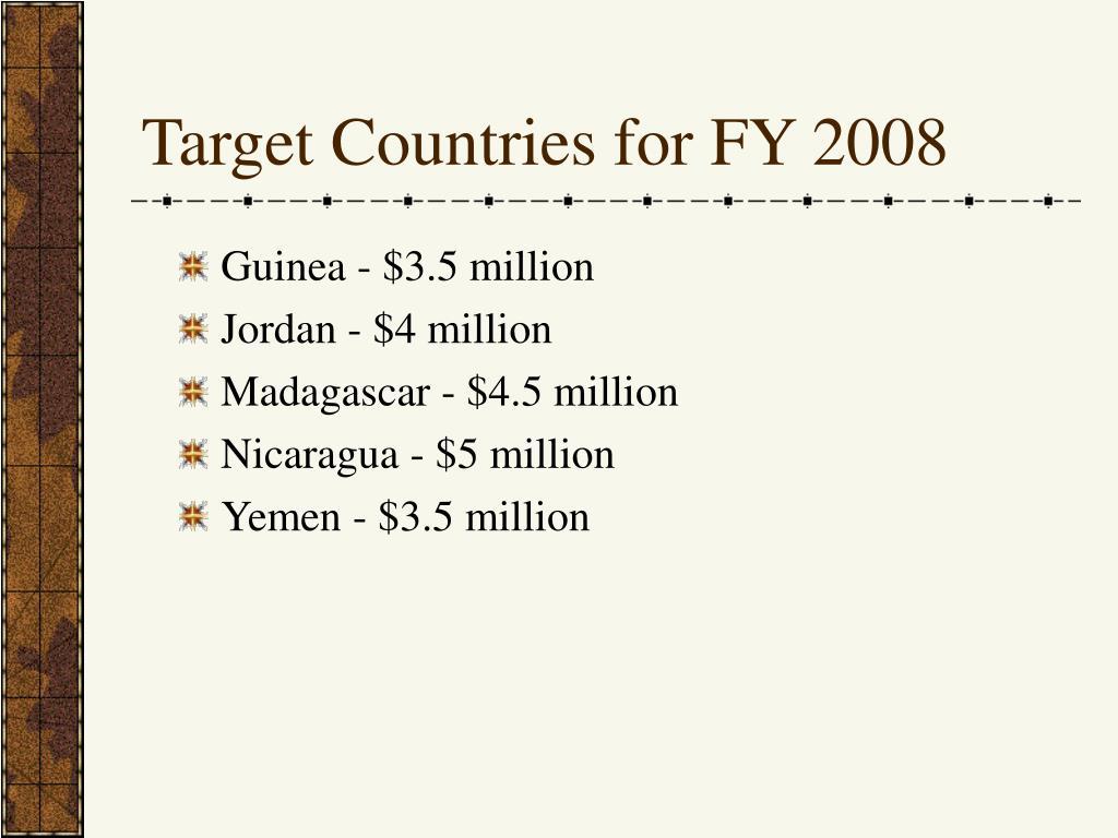 Guinea - $3.5 million