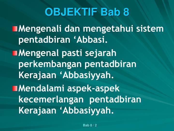 Objektif bab 8