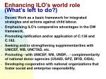 enhancing ilo s world role what s left to do