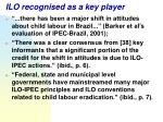 ilo recognised as a key player