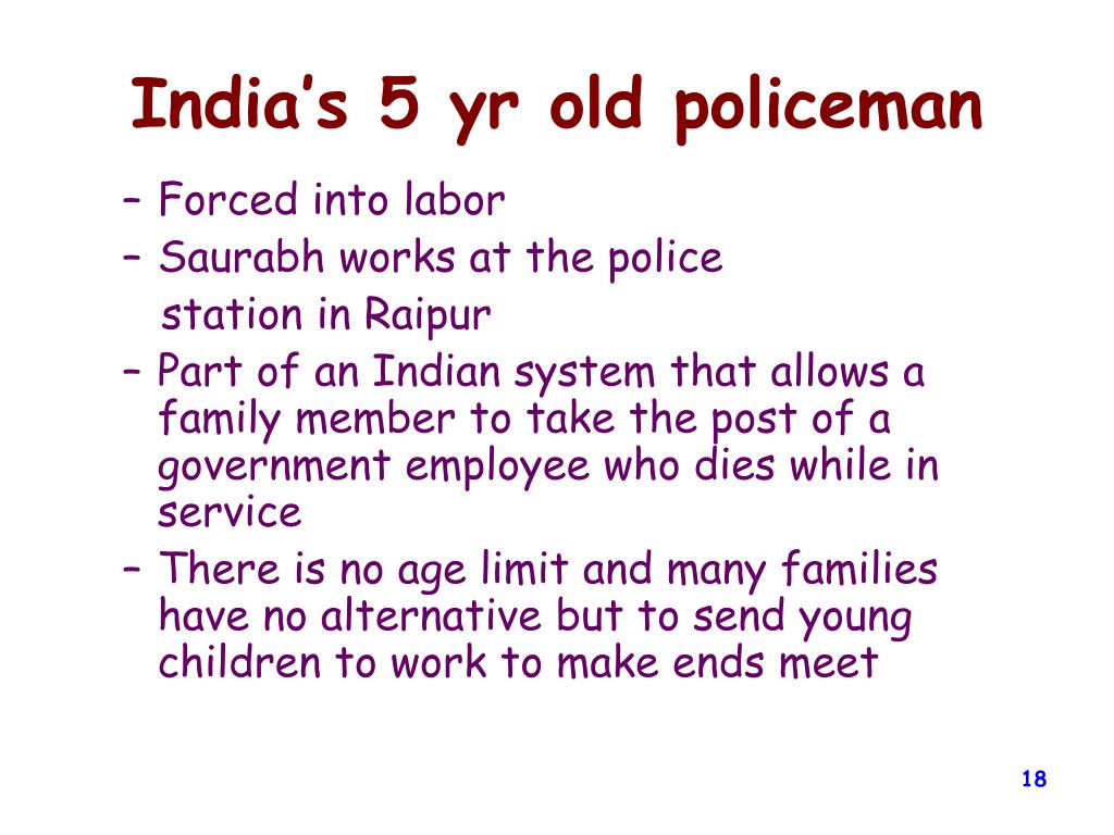 India's 5 yr old policeman