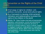 un convention on the rights of the child crc