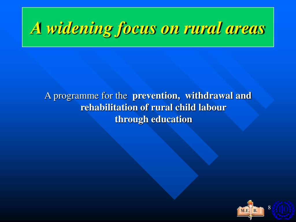 A widening focus on rural areas