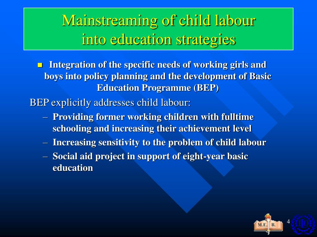 Mainstreaming of child labour