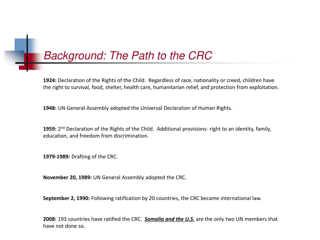 Background: The Path to the CRC