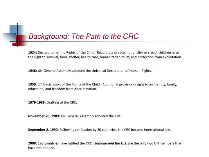 Background the path to the crc