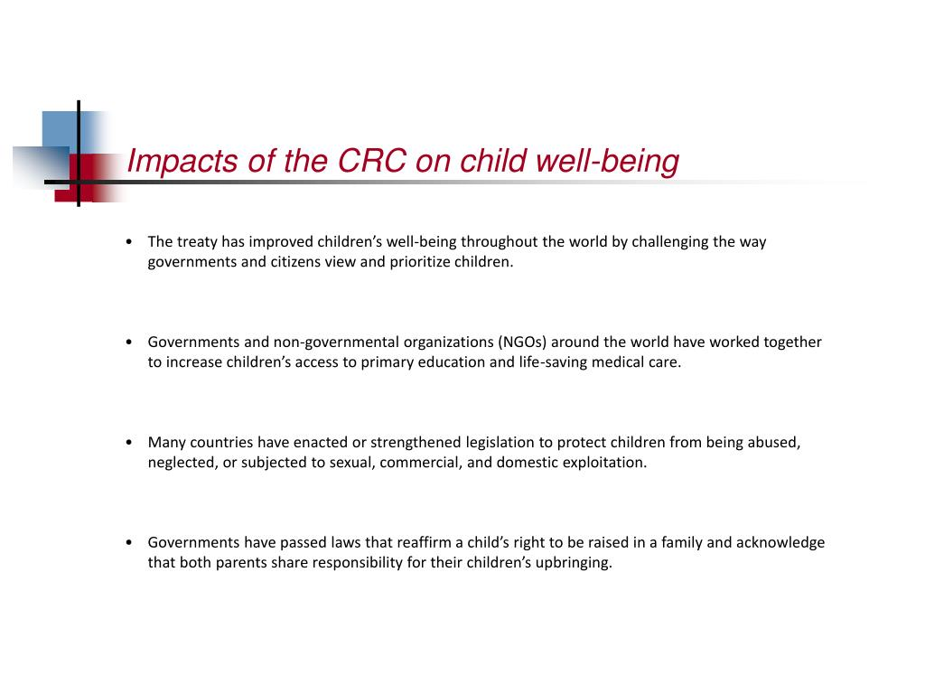 Impacts of the CRC on child well-being