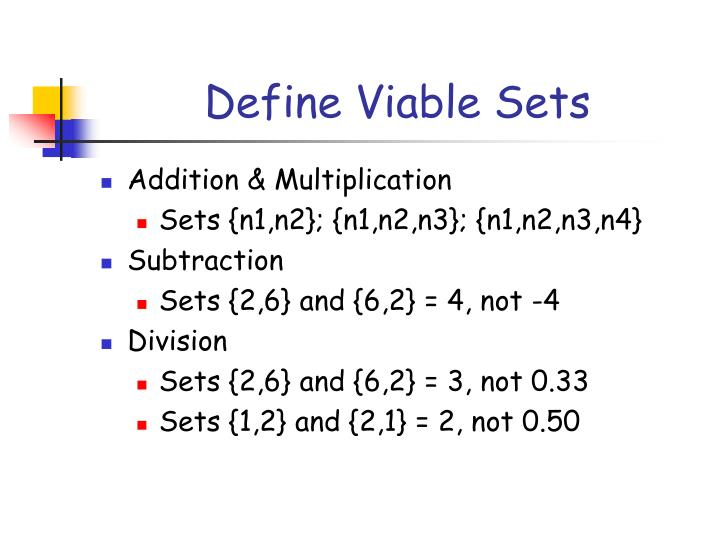 Define Viable Sets
