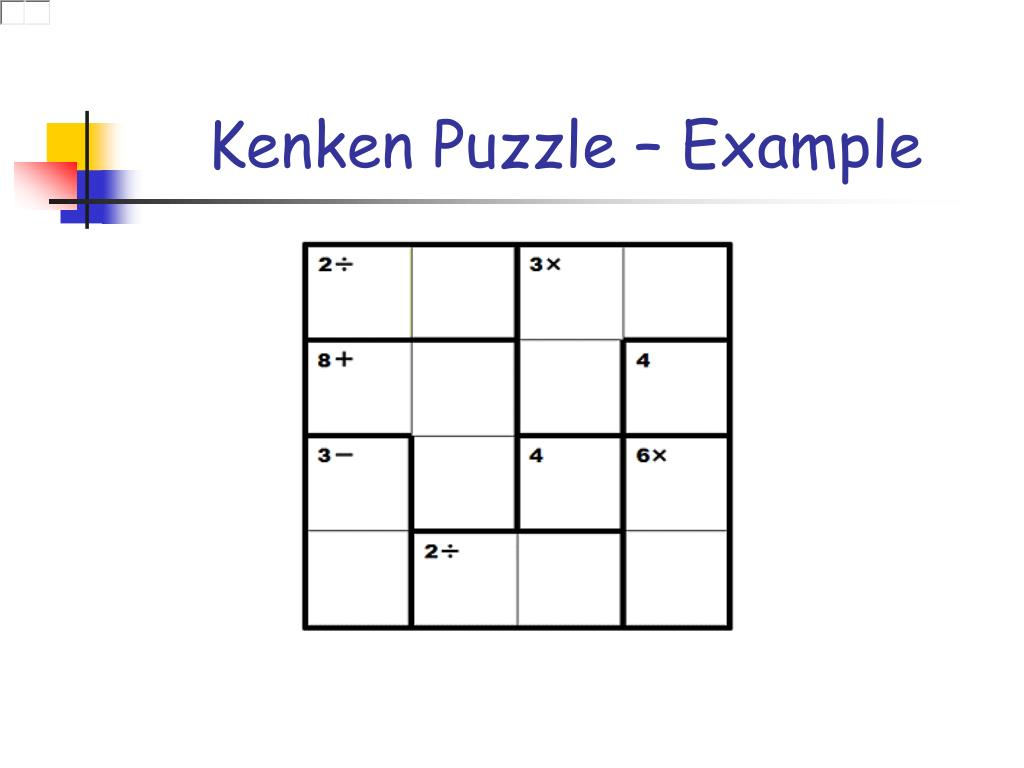 graphic about Kenken Printable known as PPT - Fixing Kenken Puzzles Through Not Taking part in PowerPoint