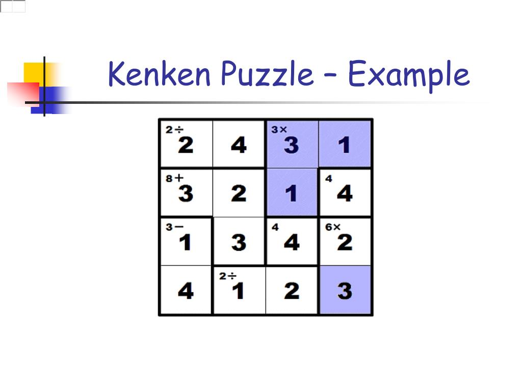picture about Printable Kenken Puzzles 9x9 identify PPT - Fixing Kenken Puzzles Through Not Participating in PowerPoint