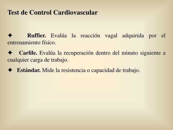 Test de Control Cardiovascular