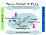 way to national cl policy19