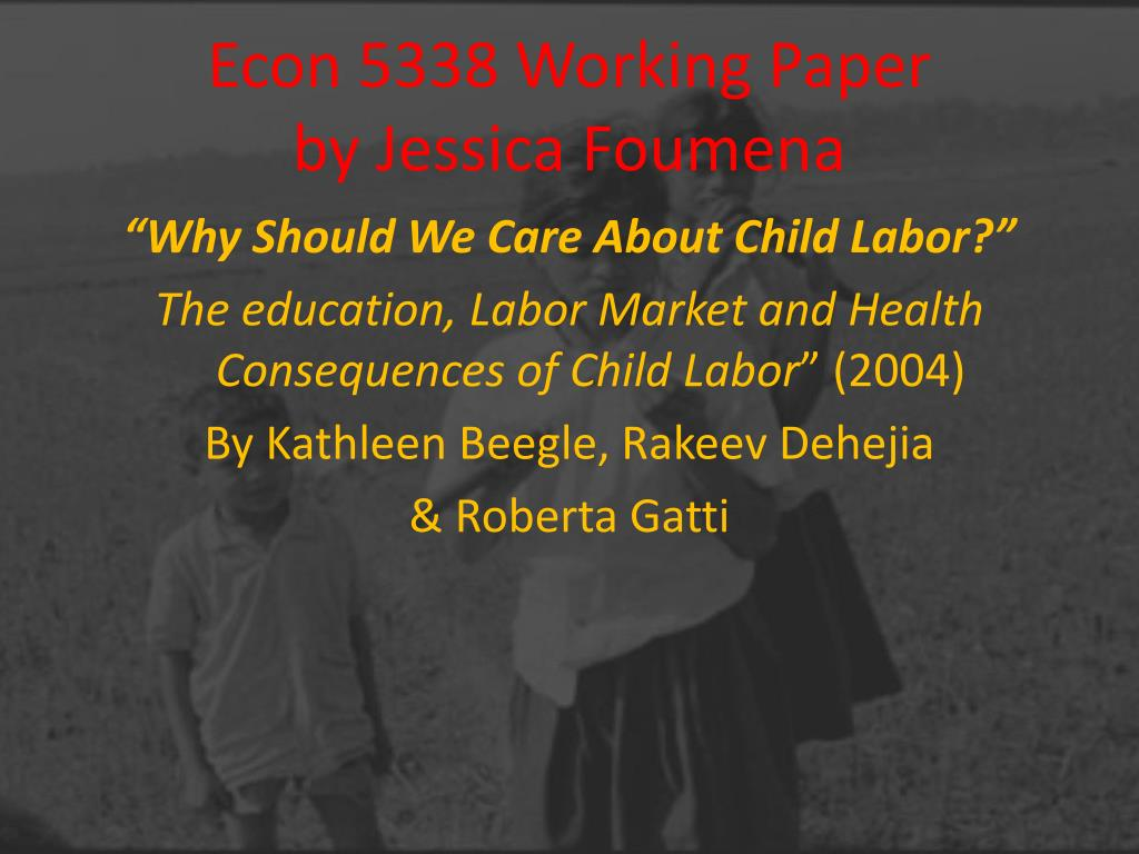 Econ 5338 Working Paper
