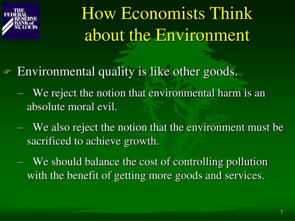 How Economists Think