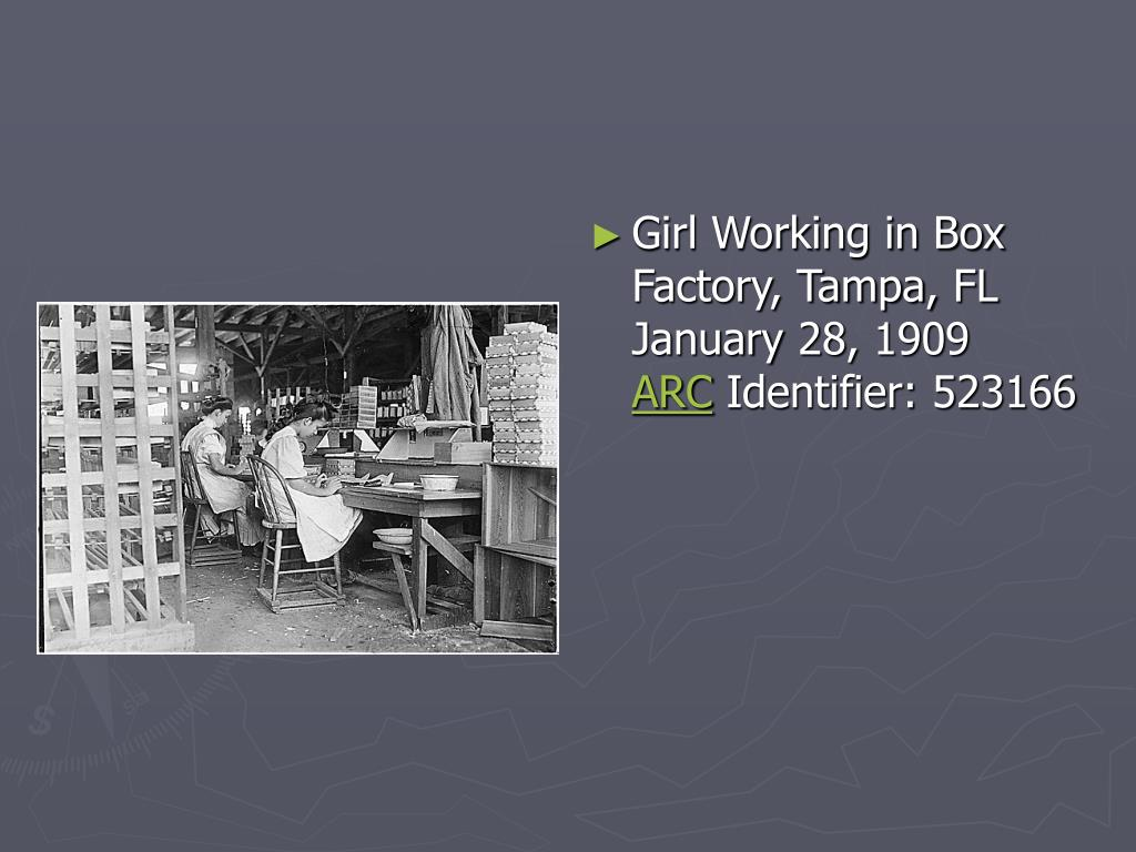 Girl Working in Box Factory, Tampa, FL