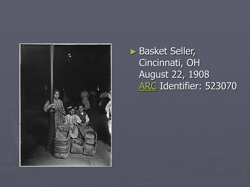 Basket Seller, Cincinnati, OH
