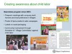 creating awareness about child labor