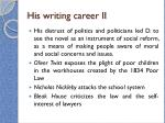his writing career ii
